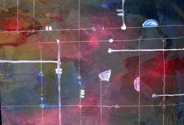 Luciano Tittarelli - Anni 00 - composizione-elettronica-2006-olio-su-tela-cm-50x70
