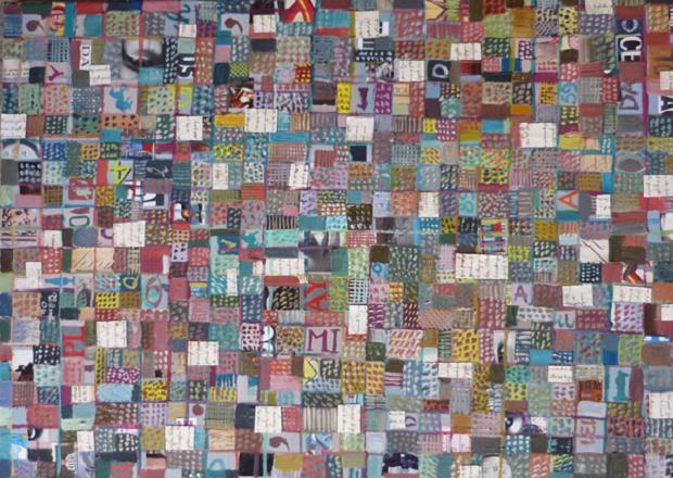 Luciano Tittarelli - Anni 00 - materiali-vari-su-tela-2006-cm-50x70