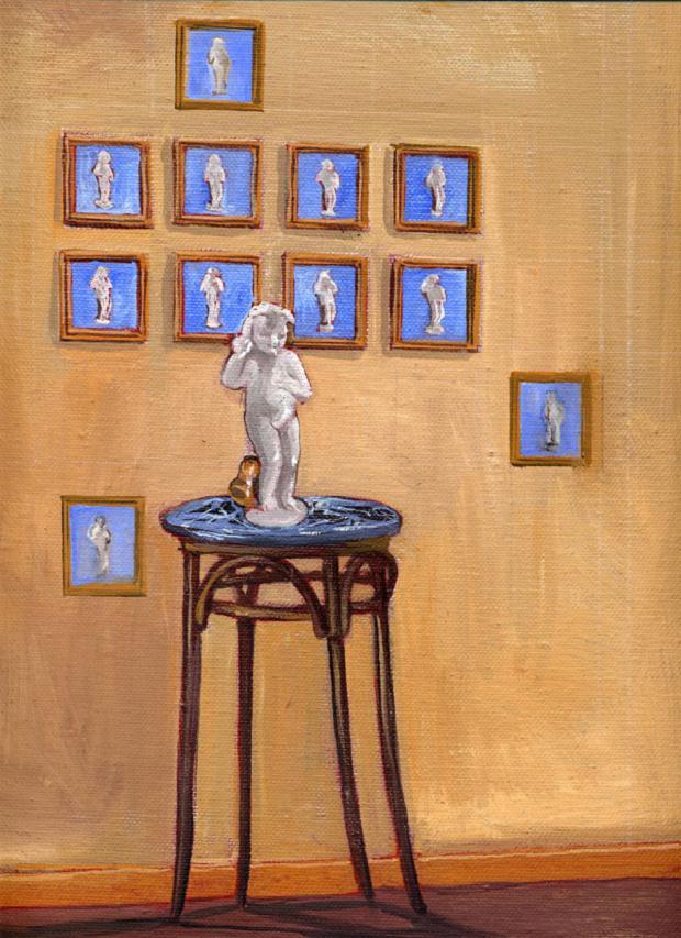 Luciano Tittarelli - Anni 00 - mio-riflesso-2002-olio-su-tela-cm-35x40