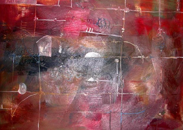Luciano Tittarelli - Anni 00 - omaggio-a-p-klee-2006-olio-su-tela-cm-50x70