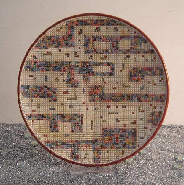 Luciano Tittarelli - Anni 00 - piatto-cm-25-serie-mosaico-sambuco-2009