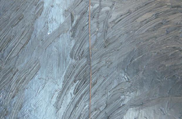 Luciano Tittarelli - Anni 80 - campo-magnetico-1989-olio-e-filo-di-rame-su-tela-cm-50x120