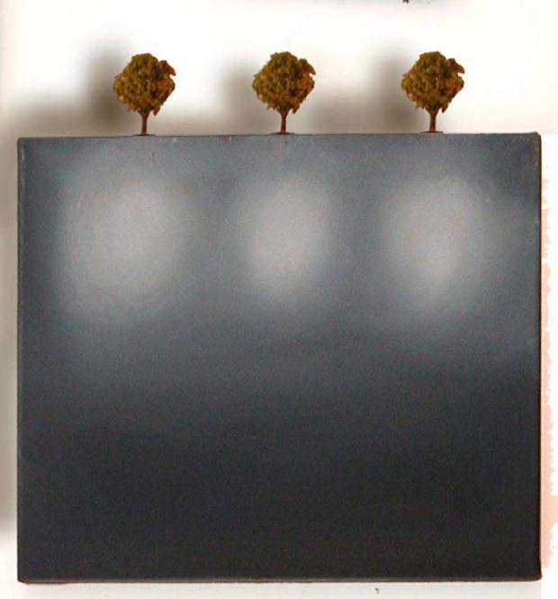Luciano Tittarelli - Anni 90 - riflesso-1999-materiali-vari-su-tela-cm-30x35