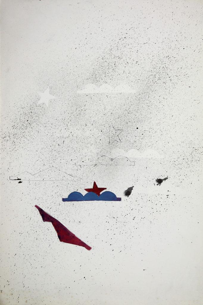 LUCIANO TITTARELLI - INCHIOSTRO, MATITA ED ACQUARELLO SU CARTA , 38X56, 1989
