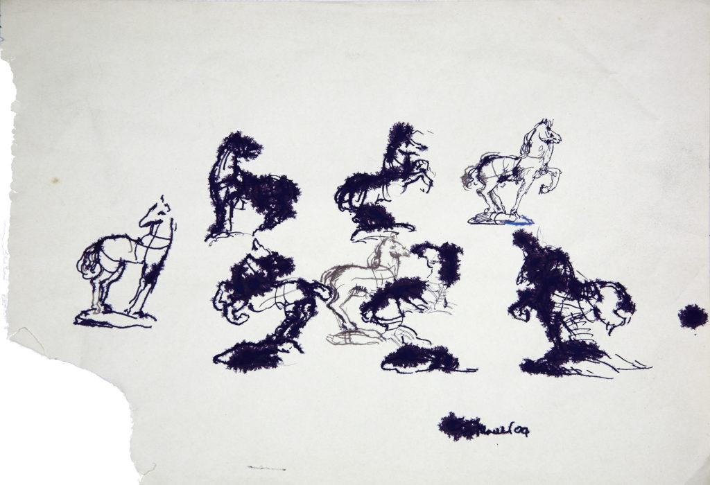 LUCIANO TITTARELLI - INCHIOSTRO NERO  SU CARTA , 48X35,2004