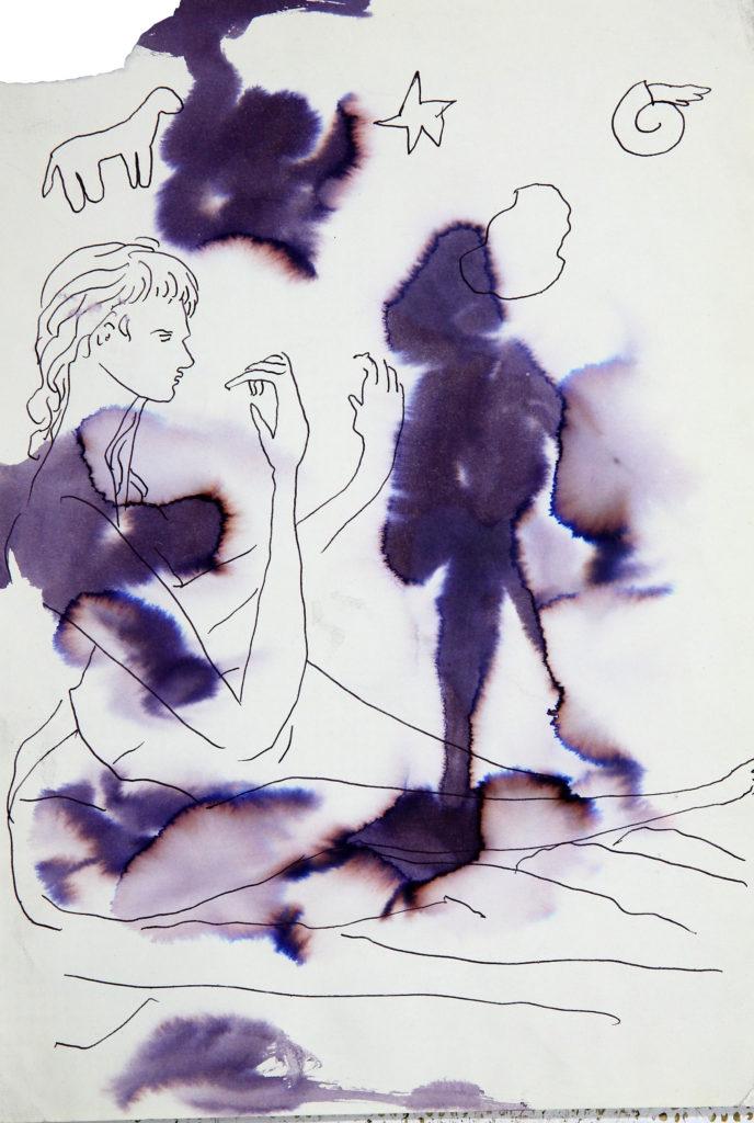 LUCIANO TITTARELLI - INCHIOSTRO  SU CARTA , 25X34, 1999