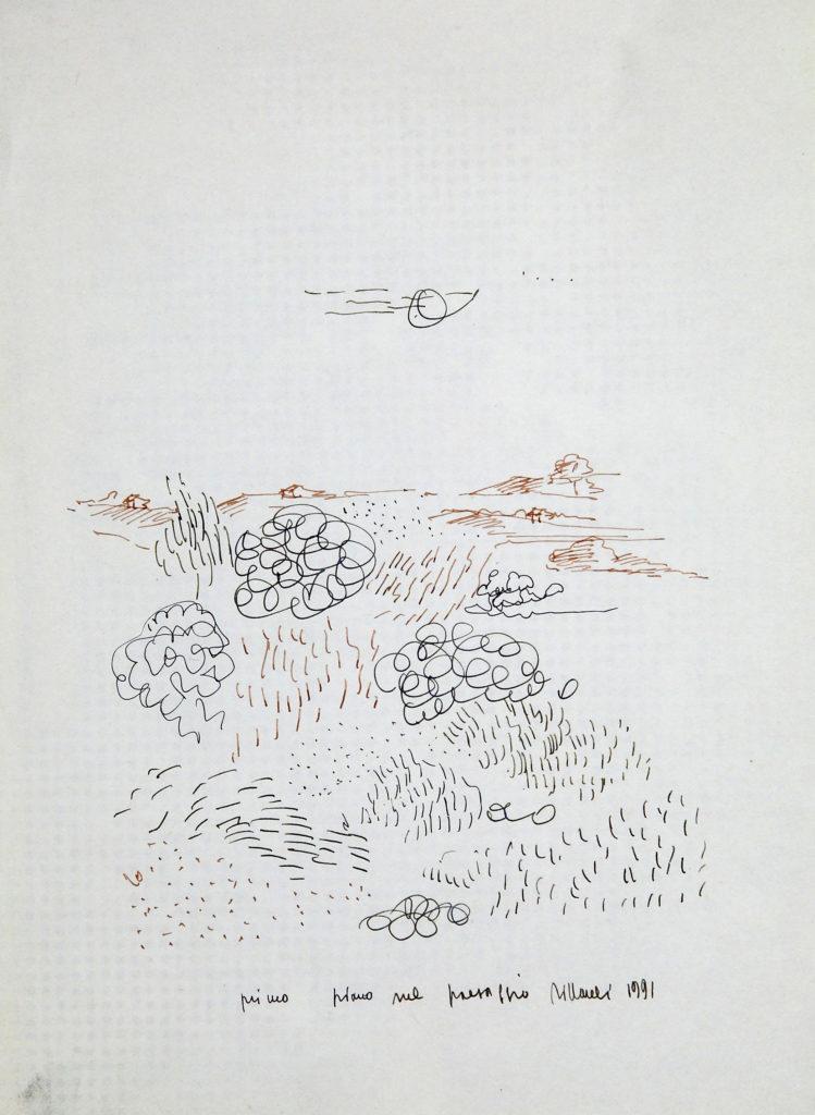 LUCIANO TITTARELLI - INCHIOSTRO SU CARTA , 28X21,1991