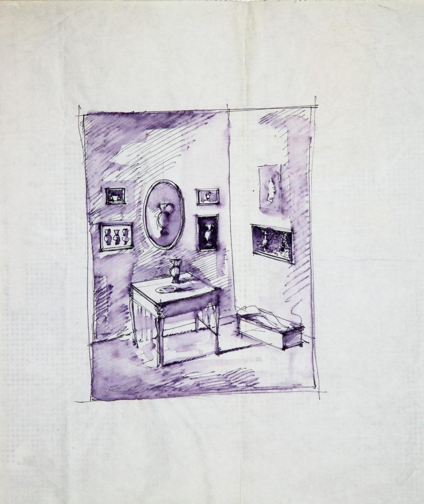 LUCIANO TITTARELLI - PENNA SU CARTA, 16X24, 1998